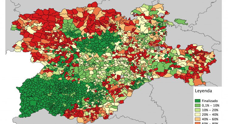 mapa estado nombres calles openstreetmap Castilla y León